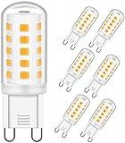 OHLGT Bombilla LED G9 de 3W Equivalente a 33W Lampara Halógena, Blancas Cálidas(3000K), 350LM, Regulable, Sin parpadeo,Sin Estroboscópico,360 Grados,lámpara g9 para iluminación del hogar, paquete de 6