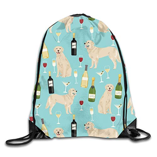show best BRIC Golden Retriever UK Golden Retriever by The Yard Drawstring Gym Bag for Women and Men Polyester Gym Sack String Backpack for Sport Workout, School, Travel, Books 14.17 X 16.9 inch
