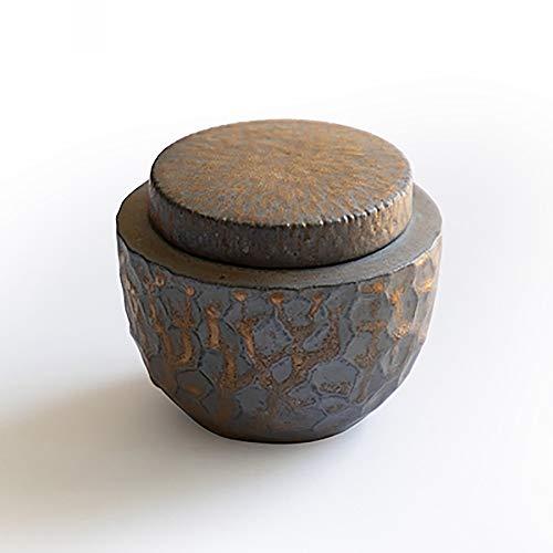 WONG WEI Mini-Urne für Erwachsene und Haustierasche, mittelgroße und große Gedenkurne, handgefertigte Keramik-Erinnerungsurne für Zuhause oder Friedhof, Hund, Katze