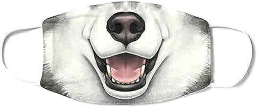 (H) おもしろマスク 面白い 変顔マスク 洗える 布 大人用 シベリアンハスキー 狼 リアル 変装 ハロウィン 仮装 被り物 お面 コスプレ 覆面 衣装 パーティーグッズ おもしろ雑貨 人気