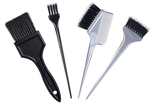 Hair Dye Brush Set -4 Pack, Hair Color Applicator Balayage Highlight Tint Brushes Comb Kit-Different Size
