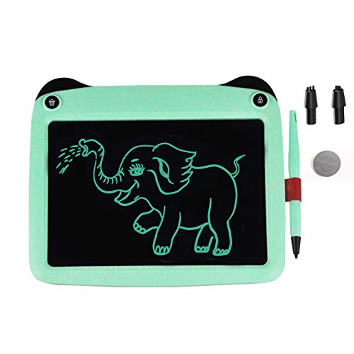 mom&myaboys 9 inch Electronic Drawing Pads for Kids, Portable Reusable Erasable Writer, Elder Message Board,4-8 Years Old Boys for Digital Handwriting Pad Doodle Board for School(Green-p8)