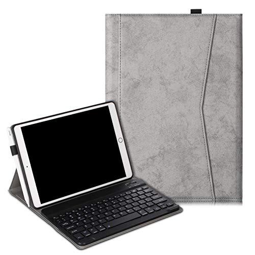 JDDRCASE Tablet case, Case Keyboard for iPad 10.2 inch 2019 2020 7th 8th Generation English Keyboard Cover (Color : Gray)