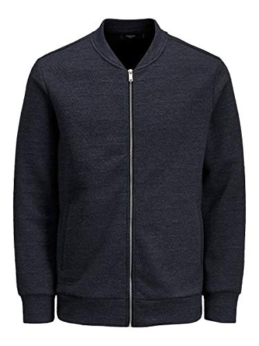 JACK & JONES Herren Strickjacke Baumwollsweat LDark Navy