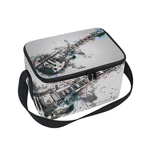 Lunchtasche für Musikinstrument, Gitarre, Picknick, Schultergurt, Lunchbox