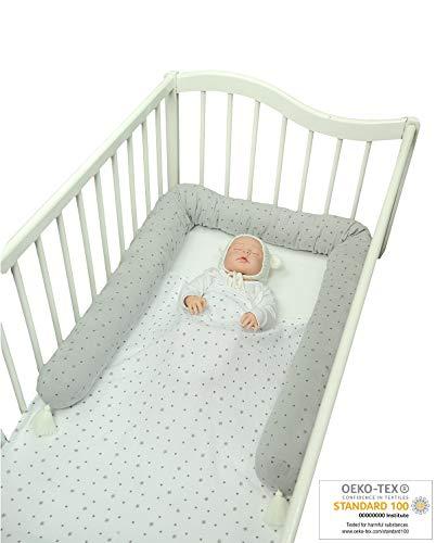 4 Weben Bettumrandung Baby Krippesto/ß Stange Krippe Baby Nestchenschlange Kopfschutz,verf/ürgbar f/ür Babybett Bettausstattung Kinderbett Sto/ßstange in 150CM