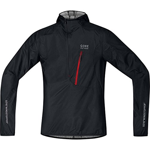 Gore Bike WEAR Men's Rescue Bike Jacket, Extremely Lightweight, Compact, Gore Windstopper, Rescue WS AS Light Jacket, Size: L, Black, JGRESC