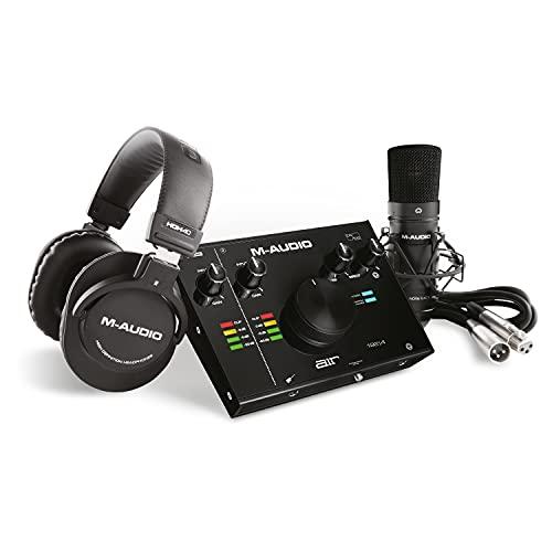 M-Audio AIR 192|4 Vocal Studio Pro - Pacchetto Completo - Scheda Audio USB con Cuffie, Microfono a Condensatore, Accessori, Cavo XLR e Software Professionale