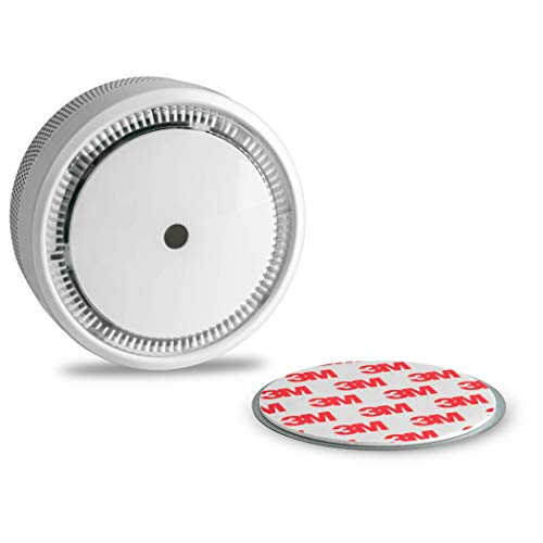 SEBSON 10 Jahres Mini Rauchwarnmelder inkl. Magnetpad, EN 14604 VDs Q-Siegel, fotoelektrischer Rauchmelder Lithium Batterie Stummschaltung Ø72x32mm