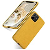 iPhone 11 Biodegradable Case, Eco-Friendly Ultra Slim Fit Straw Phone Cases Soft Protective Back Cover for iPhone 11 6.1' (2019) (Yellow)