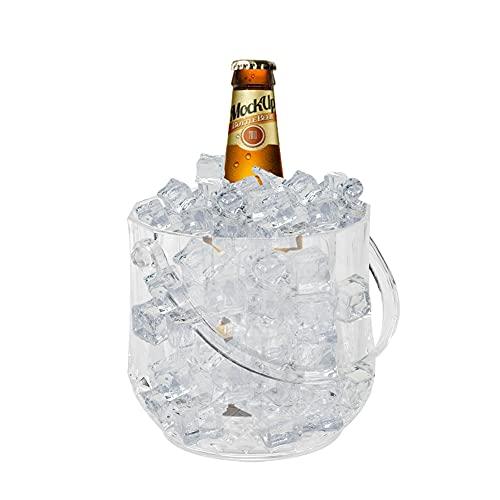 Secchiello Portaghiaccio per Ghiaccio Cocktail Bar Congelatore per Champagne Bevande Contenitore con Staccabile 15x12x12,5 cm