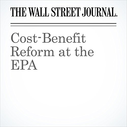 Cost-Benefit Reform at the EPA copertina
