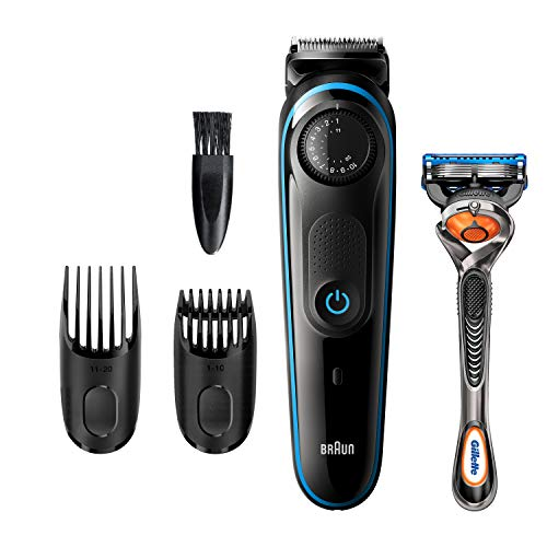 Braun Beard Trimmer BT3240, Hair Clippers for Men, Cordless and Rechargeable with Gillette ProGlide Razor