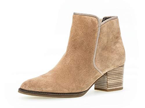 Gabor Damen Stiefelette 32.890, Frauen Kurzstiefel,Stiefel,Boot,Halbstiefel,Bootie,Reißverschluss,Desert (Micro),39 EU / 6 UK