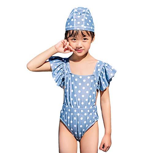 Gyratedream Meisjes Zwemkleding Eendelig Badpak met Zwemmuts Zwemkleding met Rok Badpakken Zomer Strandkleding Kledingsets voor 2-12 Jaar Kinderen