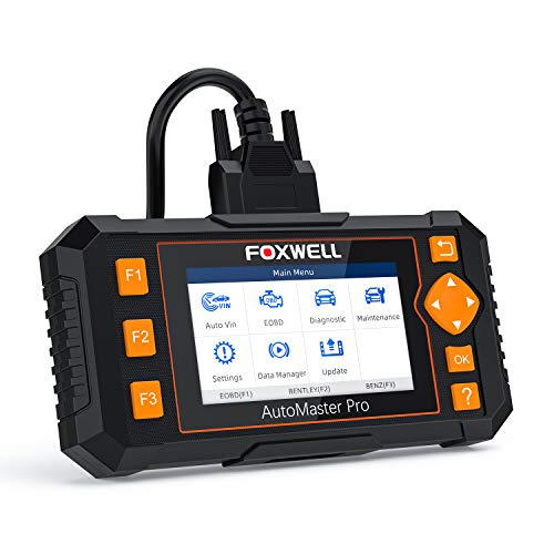 FOXWELL Scan Tool NT634 Obd2 Scanner Automotive Code Reader 4 Systems Diagnostic Tool for Engine Transmission ABS SRS with Oil EPB SAS TPMS DPF Throttle Body Reset BRT CVT Injector Odometer Gear Learn