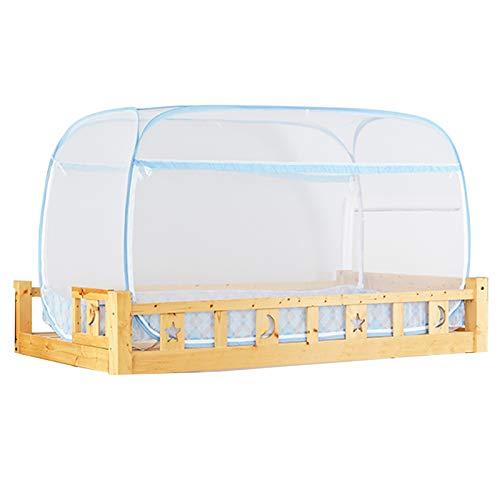 LHGXQ-Dp Mosquiteras Portátiles, Literas para El Hogar Tiendas Campaña Tipo Yurta con Cremallera Tres Puertas, Mosquiteras para Dormitorios Varios Estilos Que,Blanco,190 * 90 * 95CM