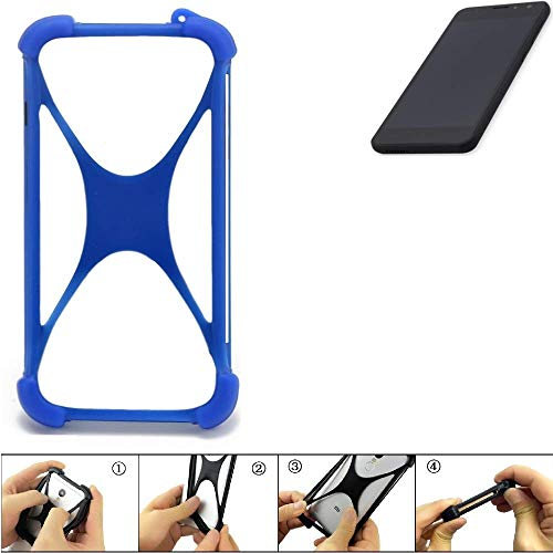 K-S-Trade Handyhülle Für Shift Shift5.3 Silikon Schutz Hülle Cover Hülle Bumper Silikoncase TPU Softcase Schutzhülle Smartphone Stoßschutz, Blau (1x)