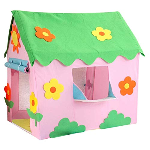 DXQDXQ Tent Sun Flower Prince or Princess Palace Castle Children kids Play Tent House Indoor or Outdoor Garden Toy House Playhouse Beach Sun Tent Boys Girls Quick Assemble Portable