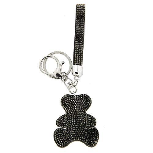Sweet Deluxe Schlüsselanhänger Teddy, Silber/Hematite I Cooler Schlüsselhalter für Damen & Mädchen I Geschenk-Idee für Frauen & BFF Freundin I individueller Schlüsselring