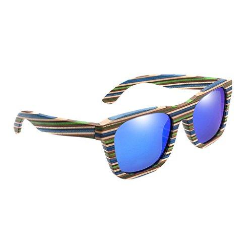 Milageto Gafas de Sol Polarizadas Vintage Conducción Deportiva Gafas Al Aire Libre Gafas Resumen - Azul