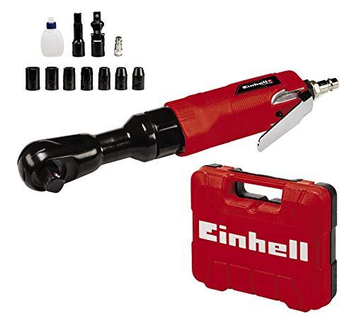 Einhell Atornillador de trinquete de aire comprimido TC-PR 68 (máx. 6.3 bar, 114 L/min, apropiado para fijar y soltar tornillos, incl. 7 llaves de tubo, maletín de transporte, sin aceite)