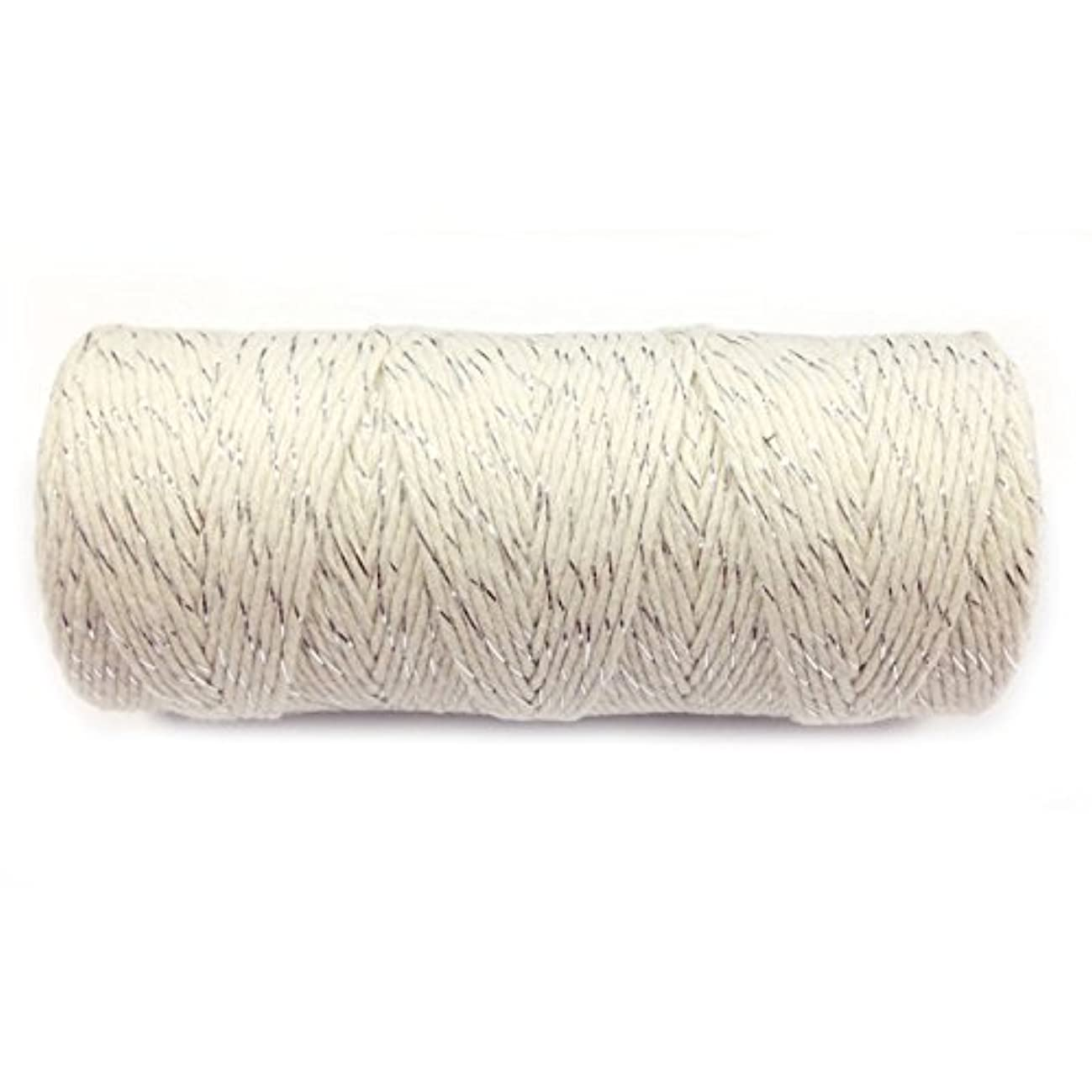 Wrapables 12-Ply Cotton Baker's Twine, 110-Yard, Metallic Silver