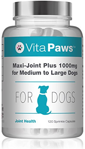 VitaPaws Maxi-Joint Plus Glucosamina 1000 mg per cani di taglia media e grande - 120 Capsule - Simply Supplements