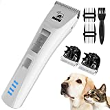 HICTOP Dog Grooming Clippers Kit Quiet Cordless Pet Electric Shaver for Thick Coats Small ...