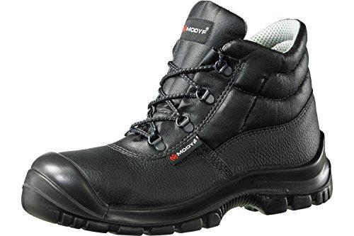 Modyf Construction Boots Pro UK S3 SRC Calzado de Seguridad Calzado de Trabajo Calzado de Trekking Alto Negro, Tamaño:41 EU