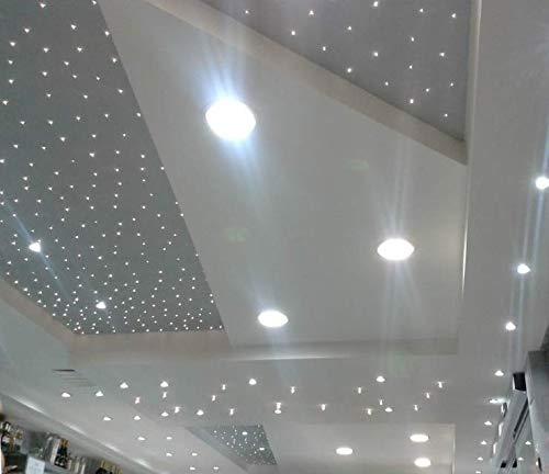KIT CIELO STELLATO Luce BIANCO NATURALE - 50 Faretti LED TRASPARENTI da Incasso 12V + Alimentatore INCLUSO