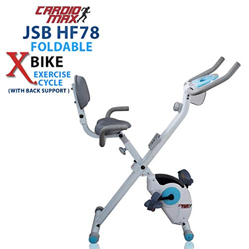 Cardio Max JSB Magnetic Upright Fitness X-Bike Exercise Cycle...