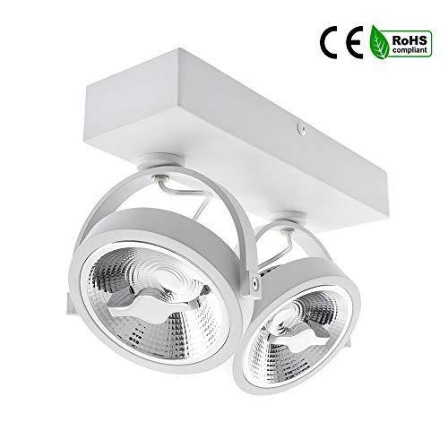Foco LED CREE de Superficie Direccionable AR111 30Watt Regulable Blanco Tiendas Escaparates (K3000)