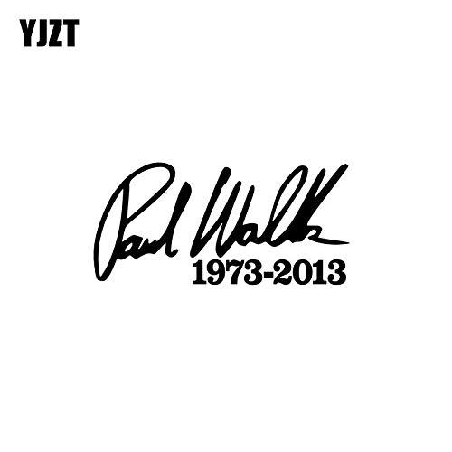 JYIP 15,5 cm * 7,5 cm Mode Paul Walker Vinyl-Aufkleber Hochwertiges Autoaufkleber-Zubehör C11-0489 Schwarz