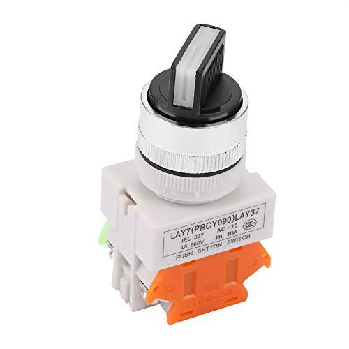 Selector de posición de perilla estable de dos pasos con interruptor giratorio LAY37-11X / 21 para control