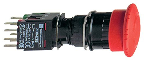 Schneider XB6AS8349B Halt/Not-Aus-Taster, rund, Ø 16, Drehentriegelung, rot, 1S+2Ö