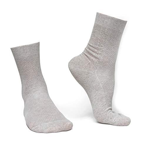 Thin breathable organic linen dress socks, M size, 3-pack