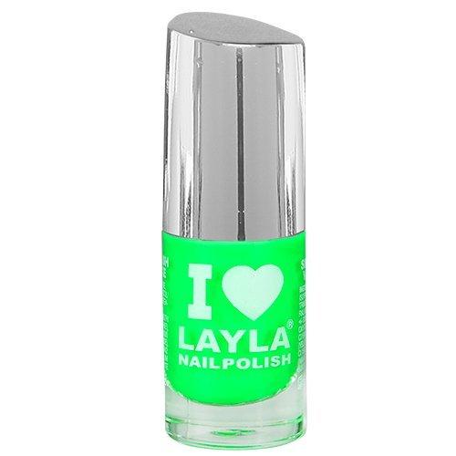 Layla Cosmetics I Love Layla Nagellack - dark green fluo, 1er pack (1 x 0.005 l)