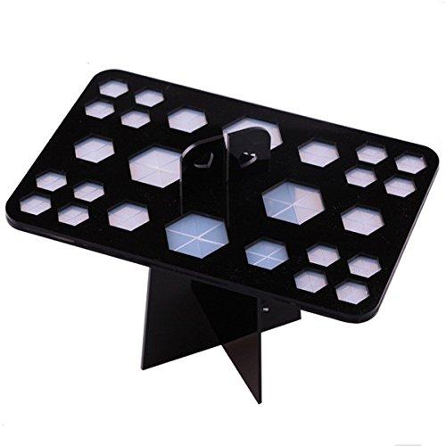 Yanshan Support de brosse de séchage de support de brosse de séchage de support de brosse de maquillage de 26 trous en plastique (Color : Color Black)