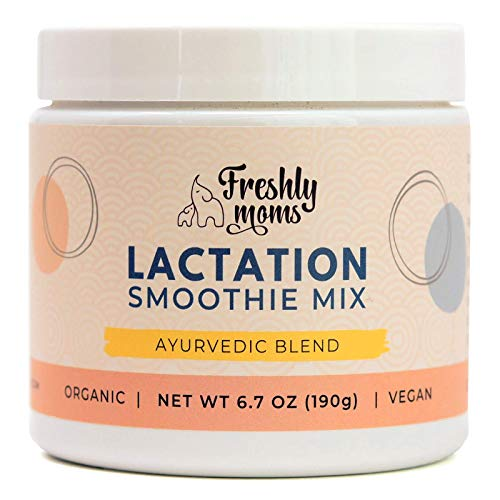Organic Unflavored Lactation Smoothie Mix by Freshly Moms | Unsweetened, Vegan, Ayurvedic Blend, Supports Healthy Breastfeeding (Increase Milk Supply, Use in Smoothies & Recipes), 24 Servings