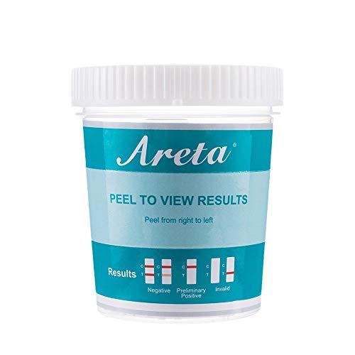 5 Pack Areta 5 panel Instant Drug Test Cup - Marijuana (THC),Cocaine (COC),Opiate (OPI 2000),Benzodiazepines (BZO), Amphetamine (AMP)- #ACDOA-754 Expires 12/23/21
