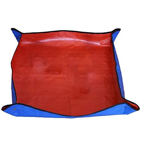 Tegent 1PCS verdickte Garten Mat Wiederverwendbare Wasserdichtes Basin Mat Garten Erdgemischs Design-Mat (Color : Red)