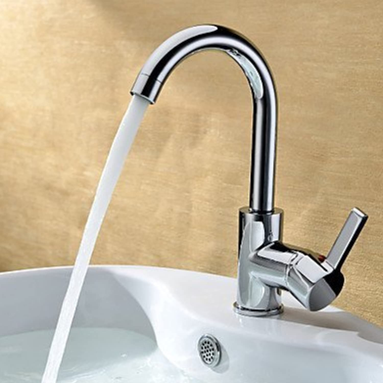 XINXI HOME Basin Tap Chrome Finish Solid Brass Bathroom Sink Faucet Bathroom Faucet Basin Mixer Tap