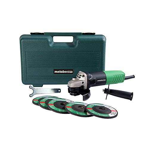 Metabo HPT G12SR4 4-1/2-Inch Angle Grinder, Includes 5 Grinding Wheels and Hard Case, 6.2-Amp Motor,...