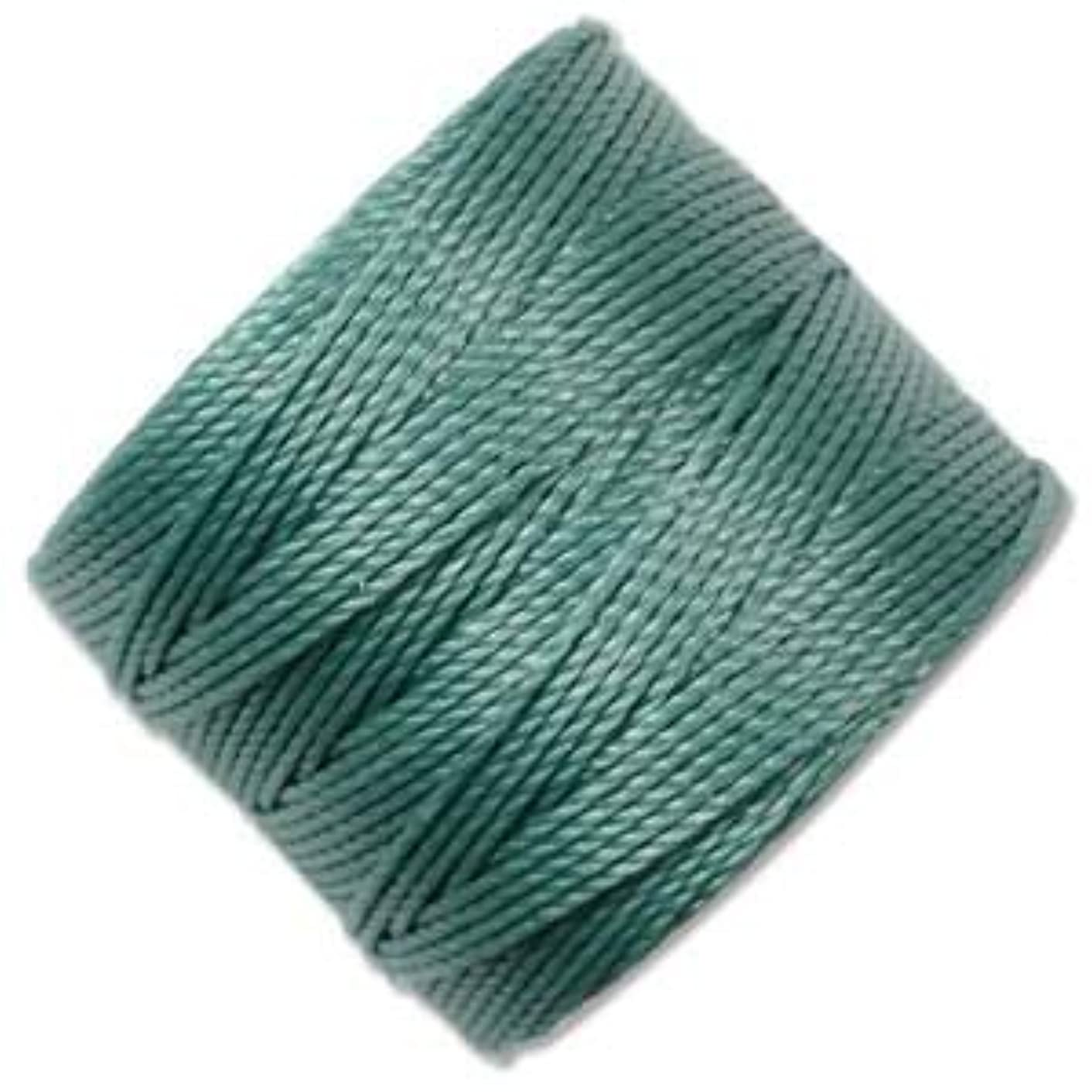 S-Lon Superlon #18 Twisted Nylon Bead Cord 77 Yard Spool Bobbin VINTAGE JADE