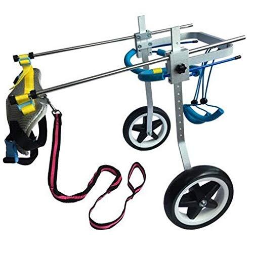 Qbylyf stoel voor honden, rolstoel, voor honden, achterpoten, reparatie van honden, revalidatie, training, auto voor huisdieren, kinderwagen en rolstoel, transport, XS, B