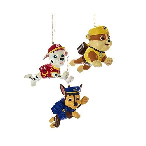 Kurt Adler 2.5-Inch Paw Patrol Christmas Ornament Set of 3