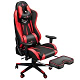 Ergonomic Big and Tall Gaming Chair with Footrest, Video Game Chair with Adjustable Headrest and...