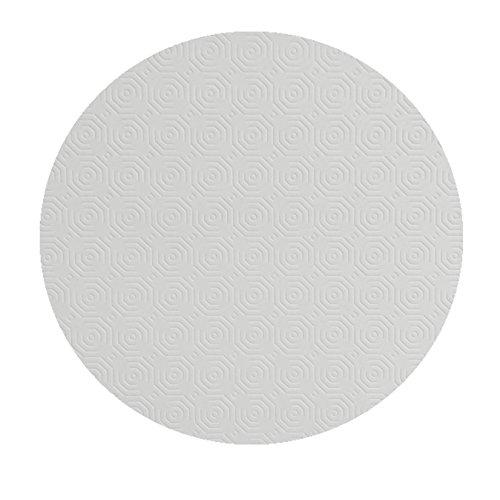 DecoHomeTextil Tischpolster RUND OVAL Größe & Farbe wählbar Weiss 120 cm Rund Tischschoner Tischschutz Molton Auflage Schoner Unterlage