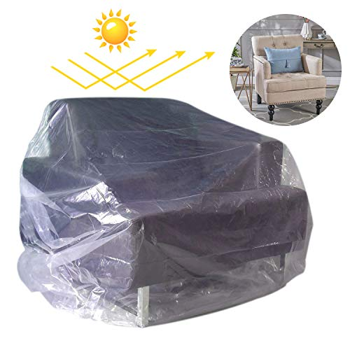 Covolo Chair Cover Plastic Bag,Waterproof Furniture Protector, Couch Covers Sectional Couch Covers Sofa Slipover,34' Wx42 D